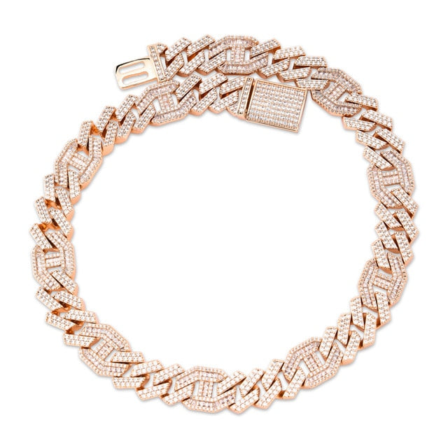 Icy 14mm Heavy Miami Baguette Choker - Icedoutluxury