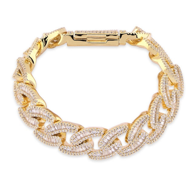 14mm Miami Cuban Link Bracelet - Icedoutluxury