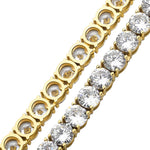 Iced Tennis Bracelet - Gold