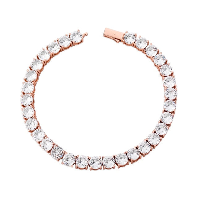 Iced Tennis Bracelet - Rose Gold