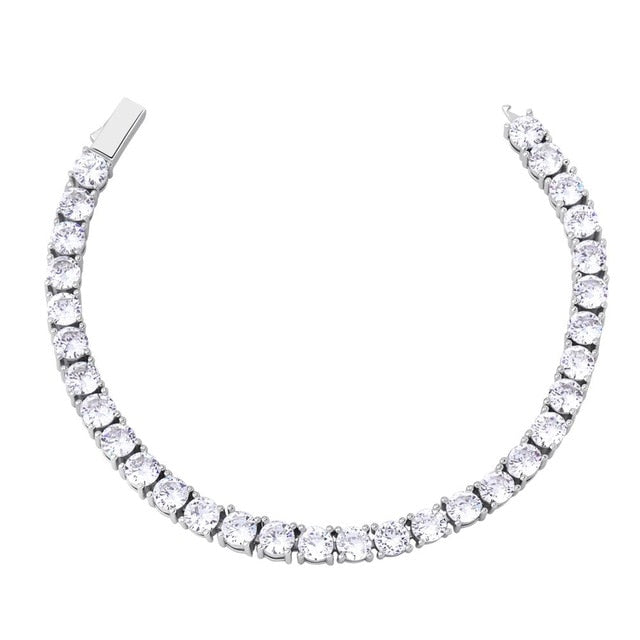 Iced Tennis Bracelet - White Gold