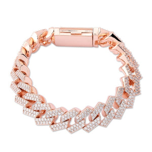 14mm Iced Prong Link Bracelet