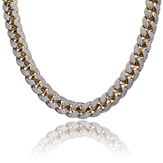 18mm Cuban Link Chain - Gold