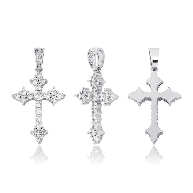 Iced Ancient Cross Pendant