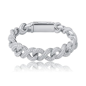 Bracciale a maglie infinite da 14 mm