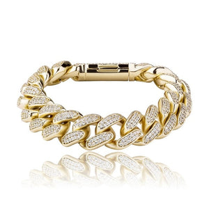 16mm Iced Cuban Link Bracelet
