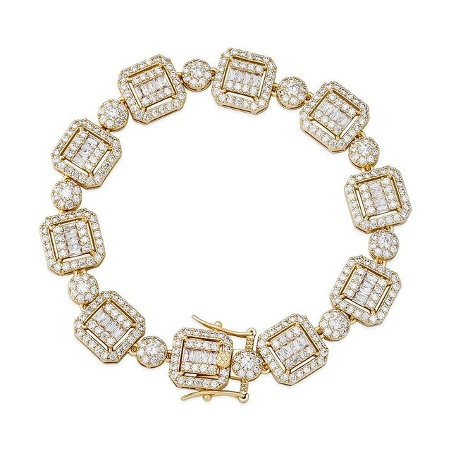 12mm Clustered Tennis Bracelet