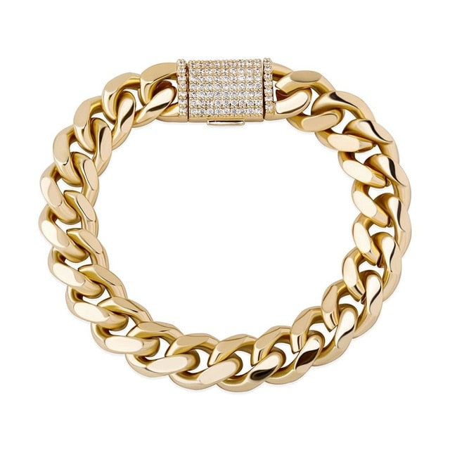 12MM Miami Cuban Link Bracelet
