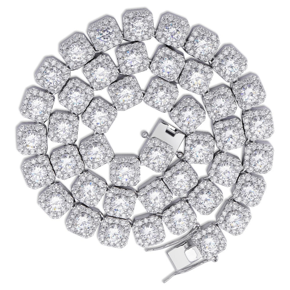 10MM Iced Clustered Tennis Chain