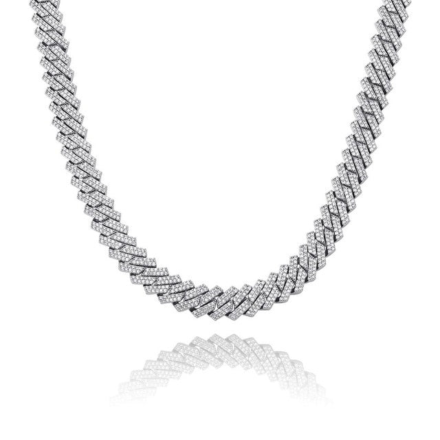 14mm Iced Prong Link Chain