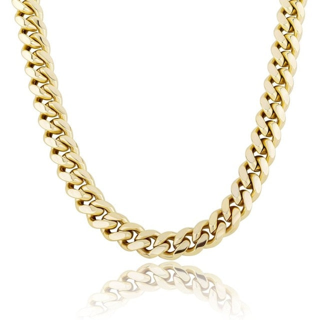 12MM Stainless Steel Miami Cuban Link Chain