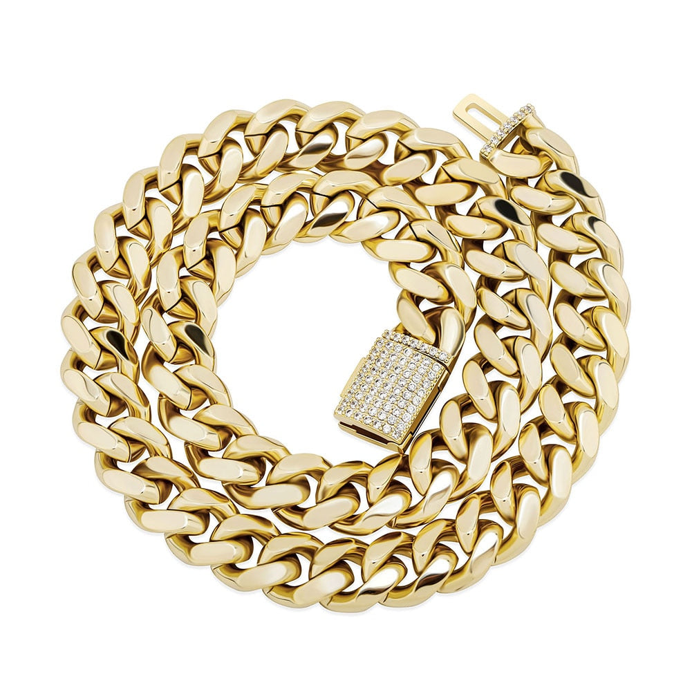 12MM Miami Cuban Link Chain
