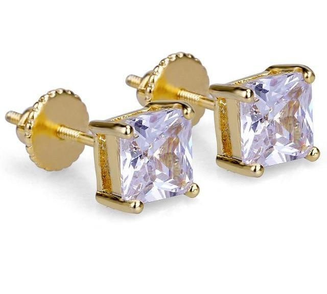 6mm Crystal Earrings - Icedoutluxury