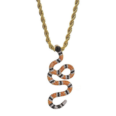 Icy Twisted Snake Pendant - Icedoutluxury