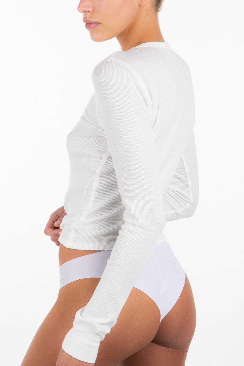 LONG SLEEVE THERMAL WHITE - ÉTERNE