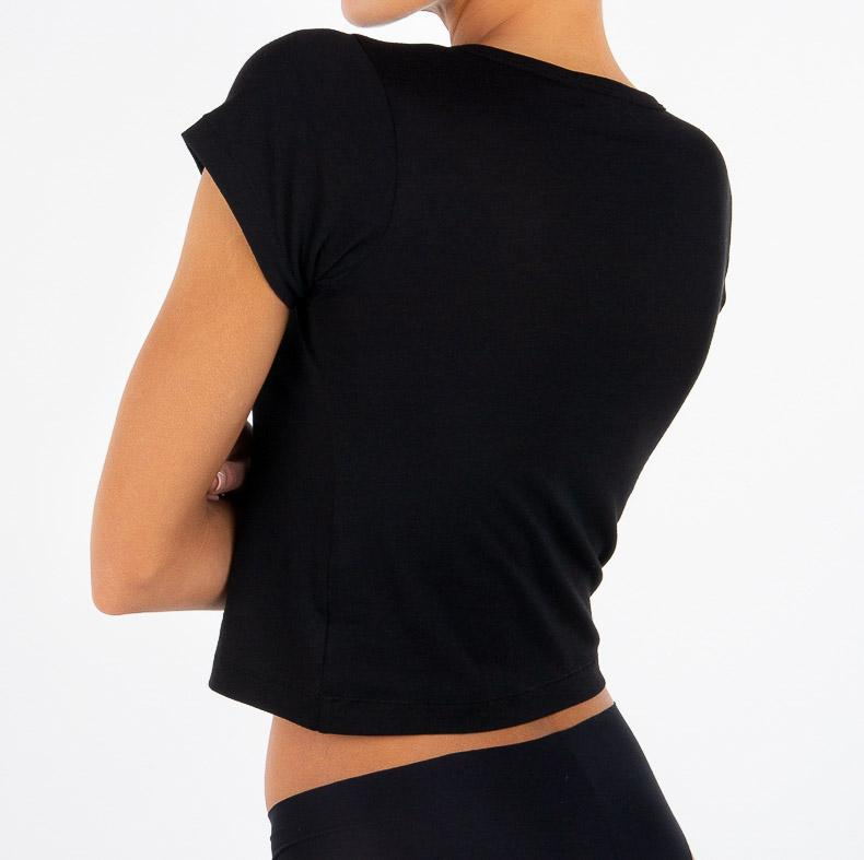 SHORT SLEEVE BABY TEE BLACK - ÉTERNE