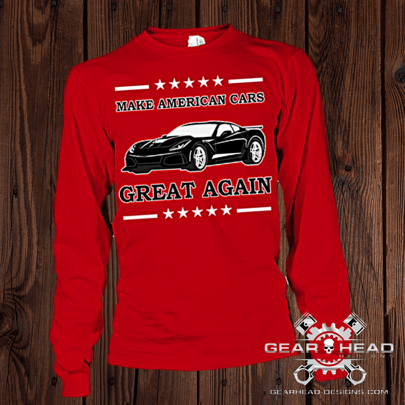 Make American Cars Great Again Corvette Long Sleeve Tee