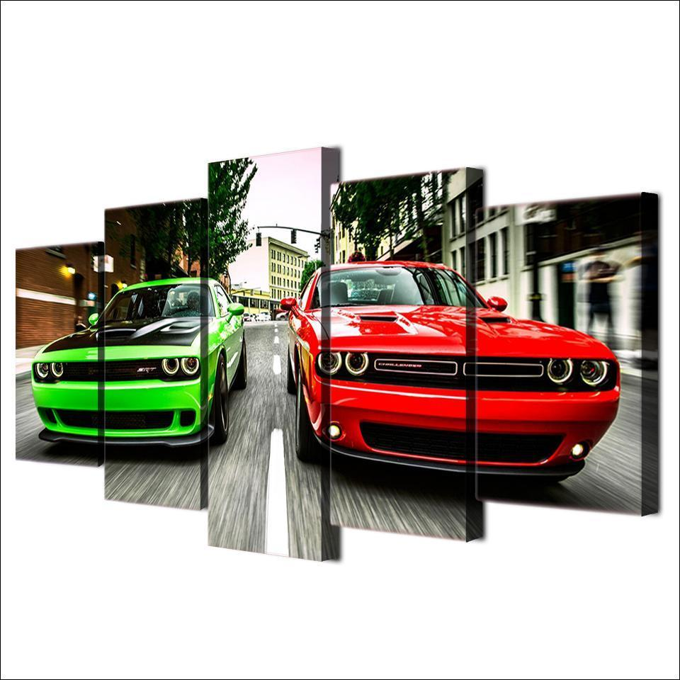 Dodge Challengers 5 Piece Canvas - GearHeadDesigns