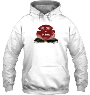 Hellcats And Demons Oh My Hoodie - GearHeadDesigns