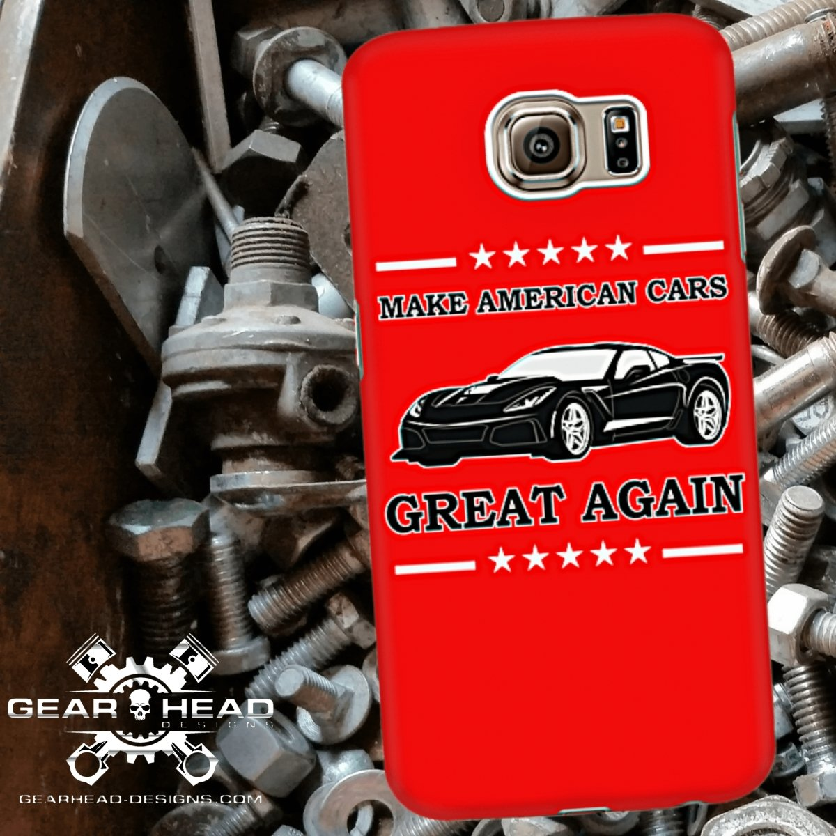 Make American Cars Great Again Corvette Phone Case - GearHeadDesigns