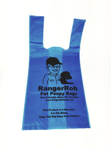 RangerRob™ Premium Poopy Bags For Dog Waste Disposal, Custom Easy-tie Handles for Large & Small Dogs. Lemon Scented (Not Dusty) & Eco-Friendly. Built Bigger & Deeper, Qty. 120 (not on Rolls)