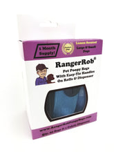 Load image into Gallery viewer, Premium RangerRob™ Pet Poopy Bags On Rolls, with Fabric Dispenser, For Dog Waste/Poop Disposal, Easy-tie Handles, Lemon Scented (Non Dusty), Eco-Friendly, Larger & Deeper Design, Qty. 60 Bags (on Rolls), 1 Dispenser
