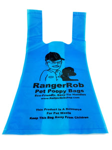 Premium RangerRob™ Pet Poopy Bags On Rolls, For Dog Waste/Poop Disposal, Easy-tie Handles for Large & Small Dogs. Lemon Scented (Non Dusty), Eco-Friendly. Built Stronger, Larger & Deeper, Qty. 120 (on Rolls)