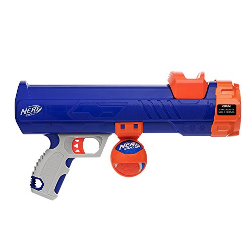 Nerf Dog 16inch Medium Compact Tennis Ball Blaster, Dog Toy