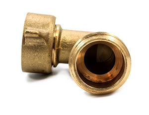 Camco 90 Degree Hose Elbow- Eliminates Stress Strain On RV Water Intake Hose Fittings, Solid Brass (22505)