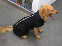 Load image into Gallery viewer, PETCEE Waterproof Dog Jacket Fleece Lined Reflective Loft Climate Changer Dog Windproof Coat (Black XXL)