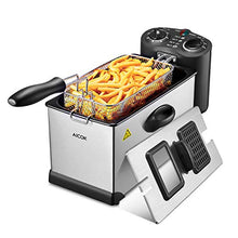Load image into Gallery viewer, Aicok Deep Fryer, With Basket, 1700-Watt Stainless-Steel Oil Deep Fryer Machine with Adjustable Temperature & Timer, Fully Removable, Professional Grade