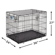 "Load image into Gallery viewer, Dog Crate | MidWest Life Stages 36"" Double Door Folding Metal Dog Crate 