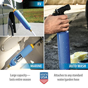 Camco TastePURE Water Filter with Flexible Hose Protector Greatly Reduces Bad Taste, Odors, Chlorine and Sediment in Drinking Water (40043)