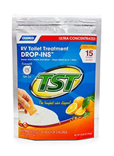 Load image into Gallery viewer, Camco TST Ultra-Concentrated Orange Citrus Scent RV Toilet Treatment Drop-Ins, Formaldehyde Free, Breaks Down Waste And Tissue, Septic Tank Safe, 15-Pack (41189)