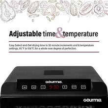 Load image into Gallery viewer, Gourmia GFD1680 Premium Countertop Food Dehydrator 6 Drying Shelves Digital Thermostat Preset Temperature Settings Airflow Circulation Countdown Timer Free Recipe Book Included 110V (6 Tray)