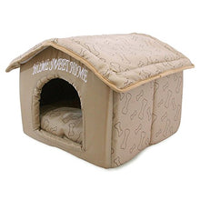 Load image into Gallery viewer, Best Pet Supplies Portable Indoor Pet House – Perfect for Cats and Small Dogs, Easy to Assemble – Brown