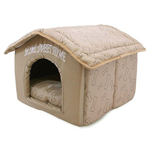 Best Pet Supplies Portable Indoor Pet House – Perfect for Cats and Small Dogs, Easy to Assemble – Brown