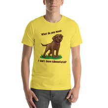 Load image into Gallery viewer, Chocolate Lab Love Chocolate - Short-Sleeve Unisex T-Shirt