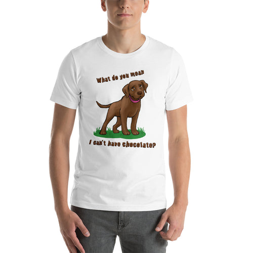 Chocolate Lab Love Chocolate - Short-Sleeve Unisex T-Shirt