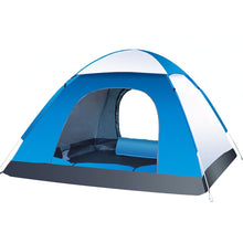 Load image into Gallery viewer, 3-4 Person Automatic Folding Tents Family Tents Beach Tent Camping Double Speed to Open Rejection