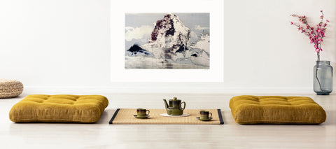 interior zen with art, at home with art