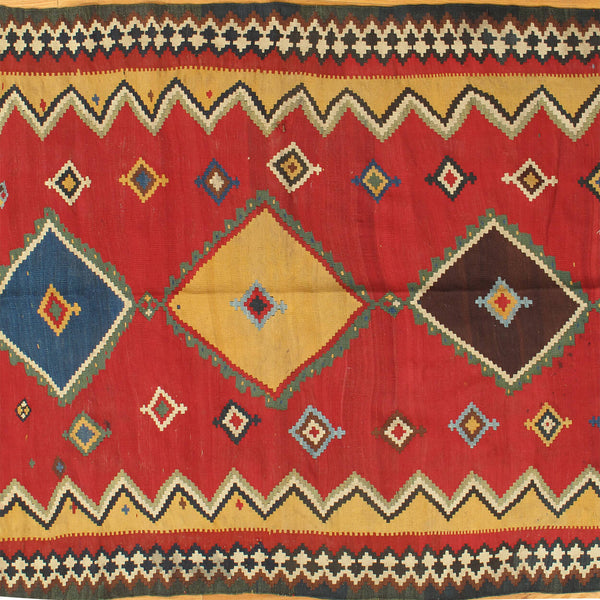 Ghashghai Kilim - Authentic Antique Persian Rug