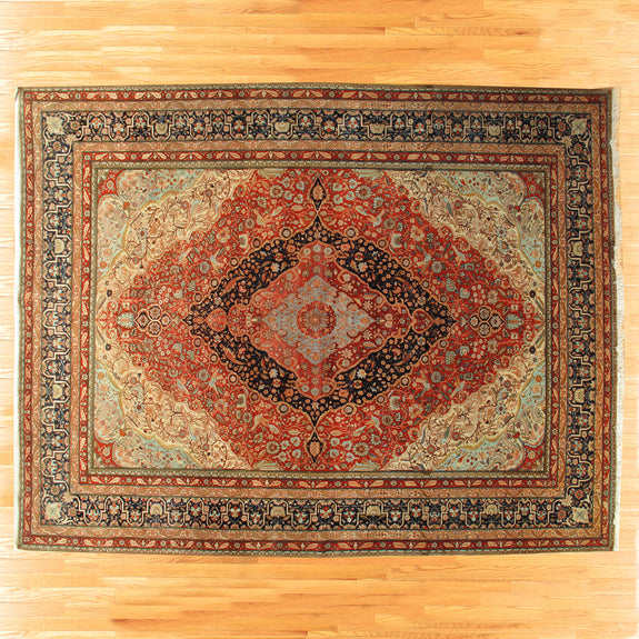 Mohtasham Kashan - Authentic Antique Persian Rug - One of a kind!