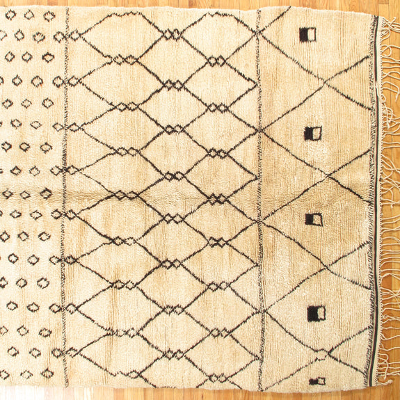 Moroccan - Authentic Antique Moroccan Rug - New