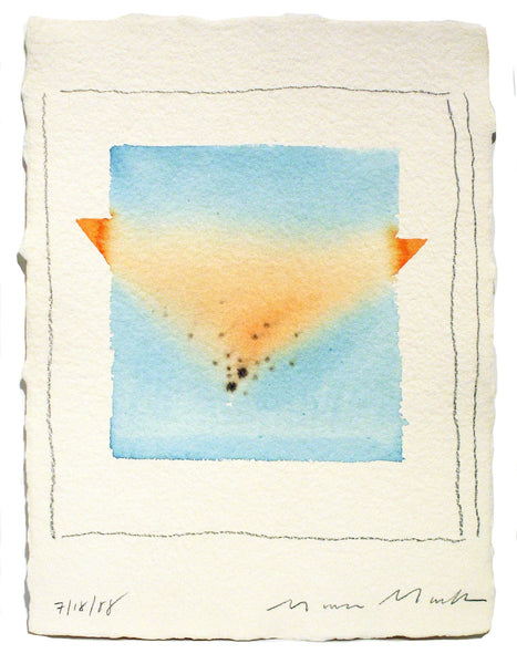 Pink & Blue Triangles Series #2 - Watercolor by Mona Mark