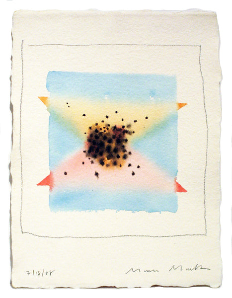 Pink & Blue Triangles Series #3 -  Watercolor by Mona Mark