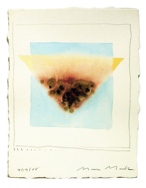 Pink & Blue Triangles Series #7 - Watercolor by Mona Mark