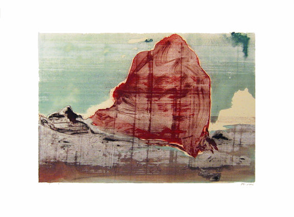 Rock Series #8 - Silkscreen Monoprint by Mona Mark