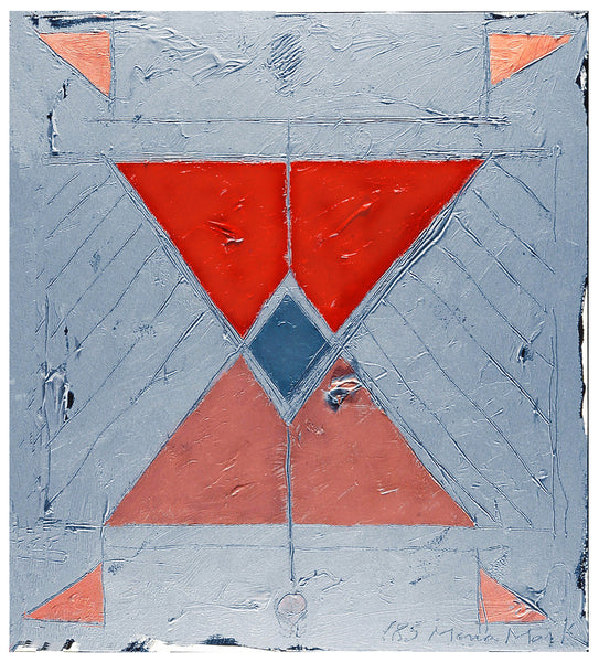 Triangle Alphabet Series #18 - Painting by Mona Mark