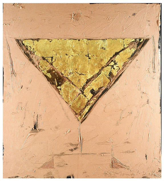 Triangle Alphabet Series #19 - Painting by Mona Mark